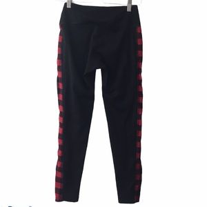 The Vermont Flannel Co leggings with flannel panel